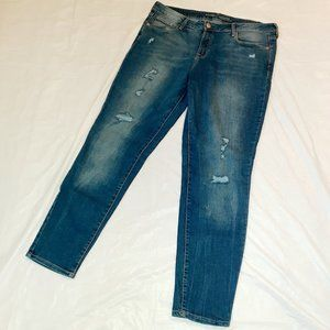 Old Navy Rockstar Distressed Skinny Jeans Size 14